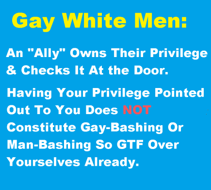 gay white male privilege