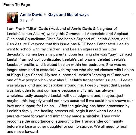Leelah Davis post